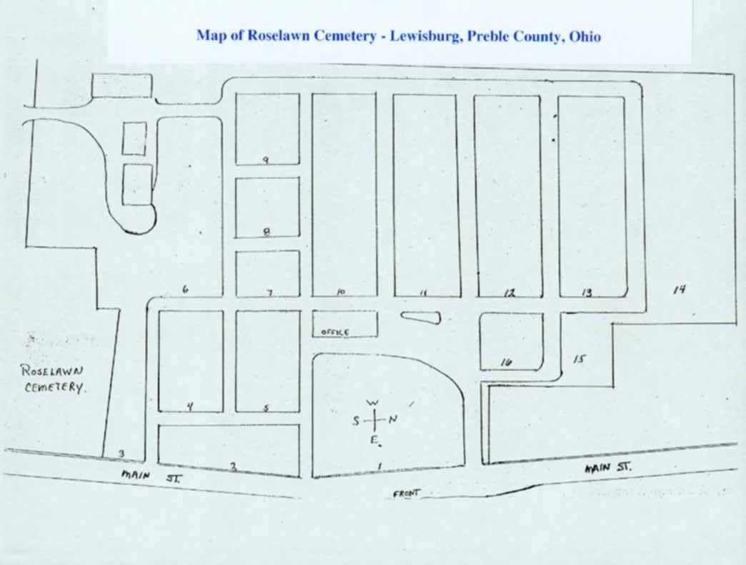 Lewisburg Ohio Map.Roselawn Cemetery In Lewisburg Ohio Find A Grave Cemetery