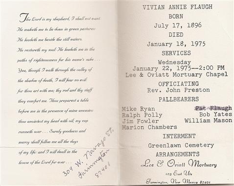 Vivian Annie <i>Chambers</i> Flaugh