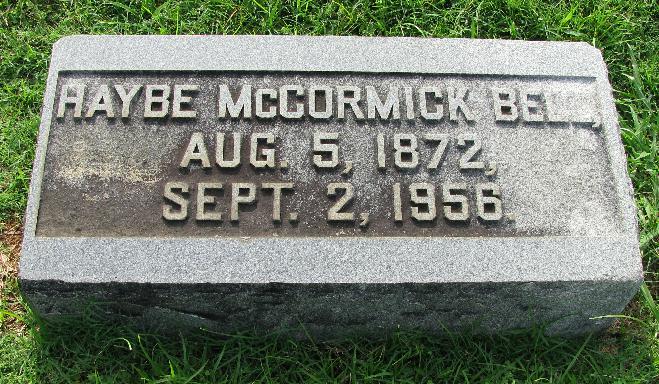 Bertha Haywood Haybe <i>McCormick</i> Bell