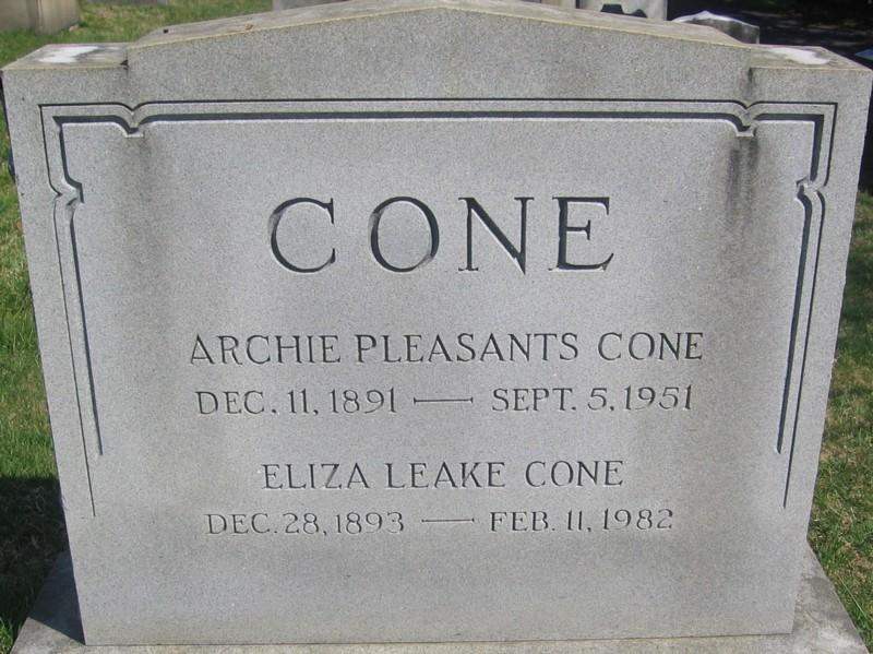 Eliza Leake Cone
