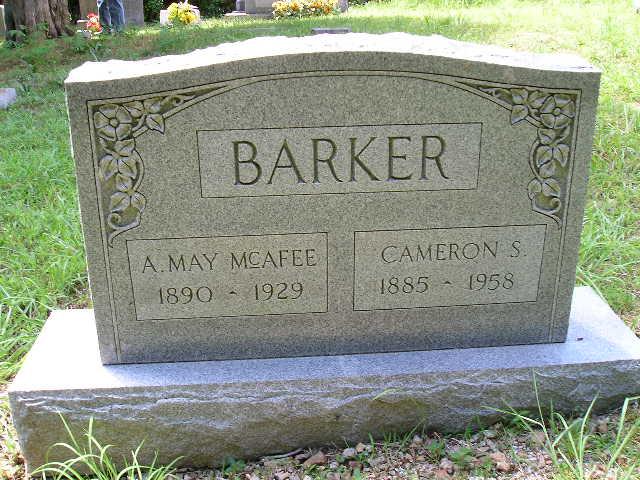 A. May <i>McAfee</i> Barker