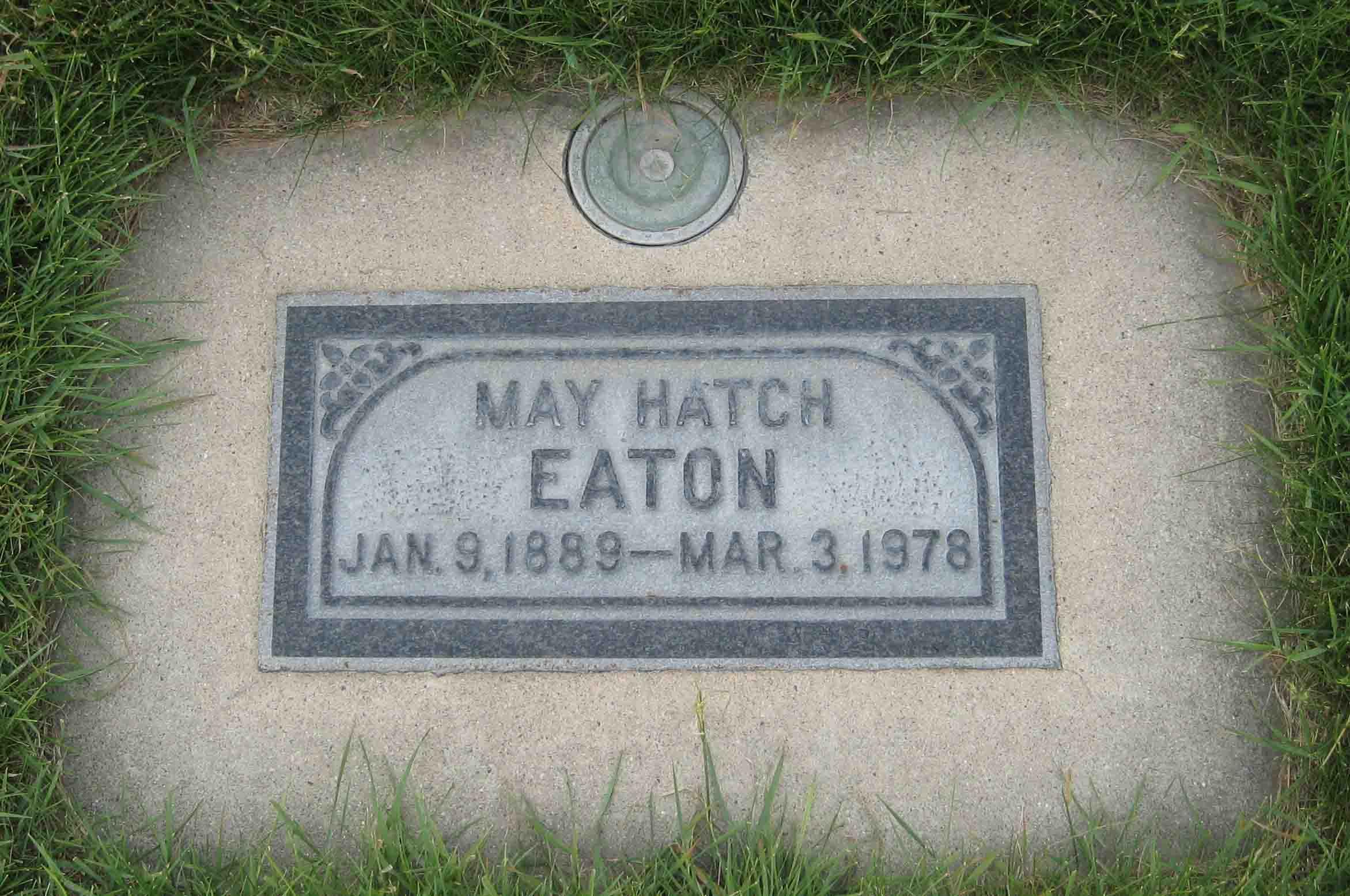 Luella May <i>Hatch</i> Eaton