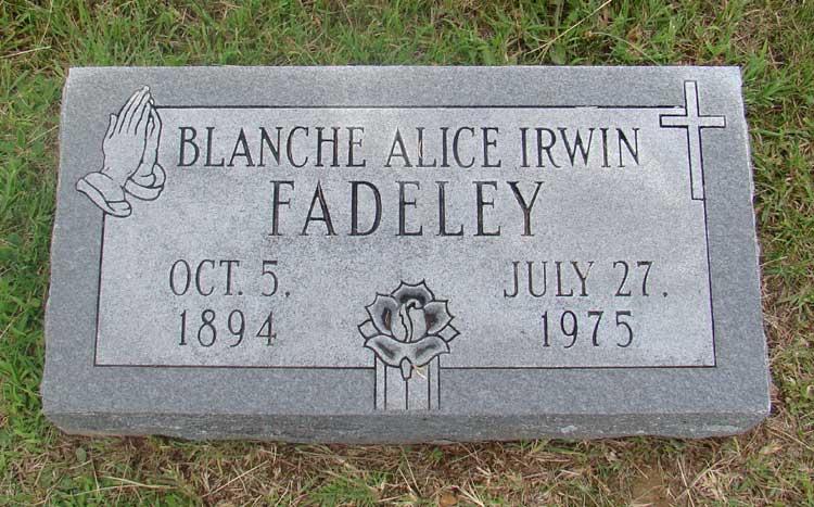 Blanche Alice <i>Irwin</i> Fadeley