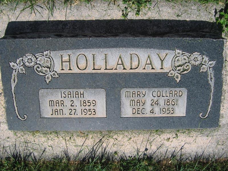 Mary <i>Collard</i> Holladay
