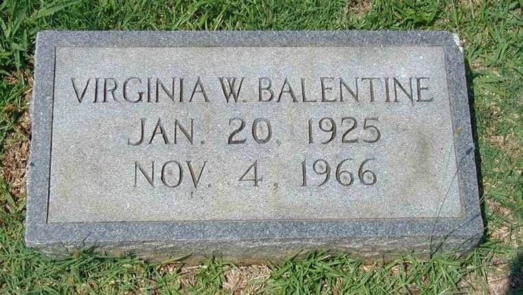 Virginia <i>Walker</i> Balentine