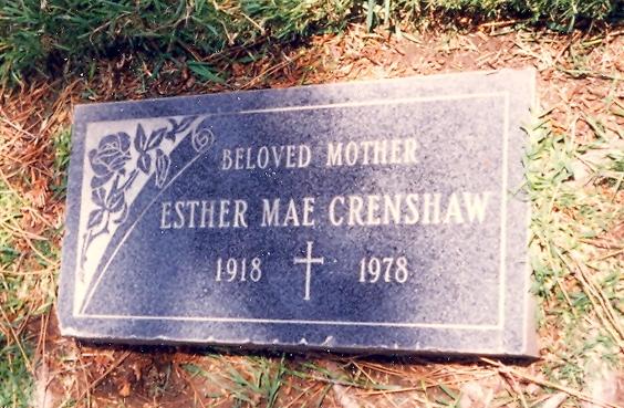 Esther Mae <i>Fear</i> Crenshaw