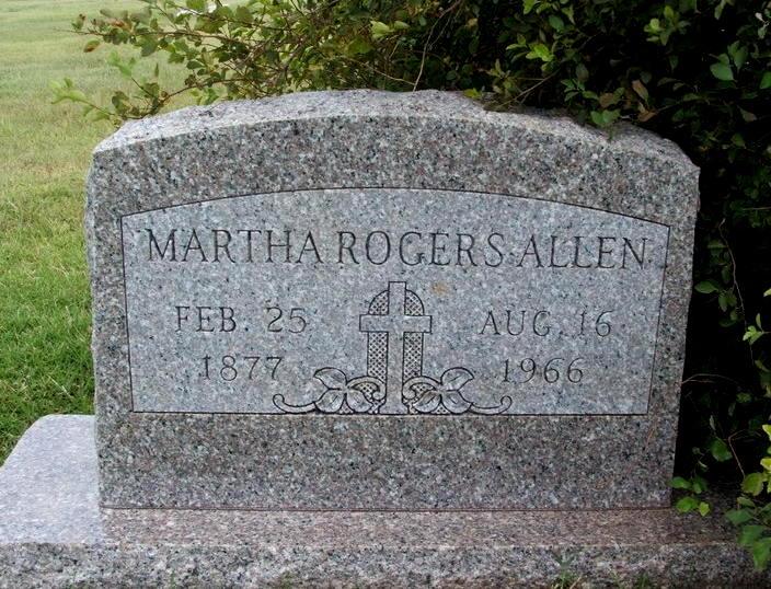 Martha Ellen Ella Hatchett Rogers Allen 1877 1966 Find A Grave Memorial
