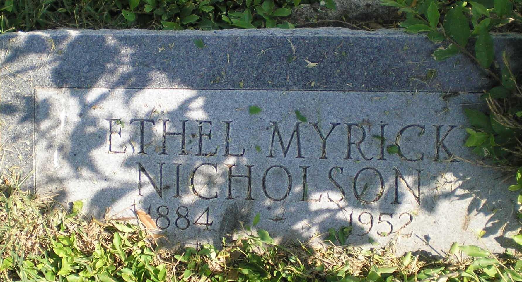 Ethel C. <i>Myrick</i> Nicholson