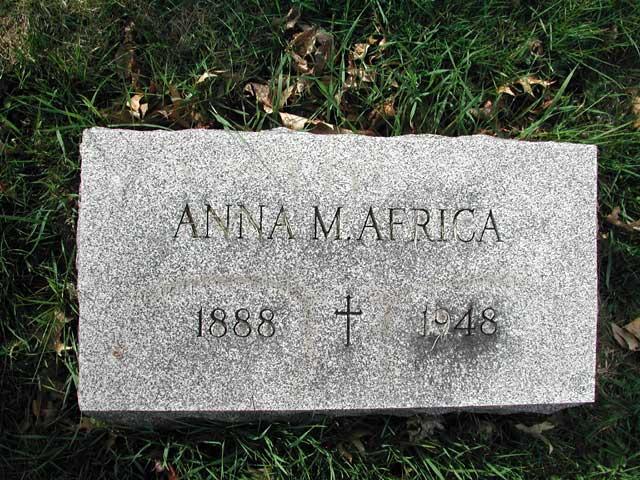 Anna Maize <i>Wilson</i> Africa