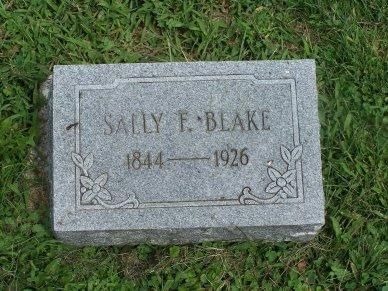 Sally F. <i>Burnham</i> Blake