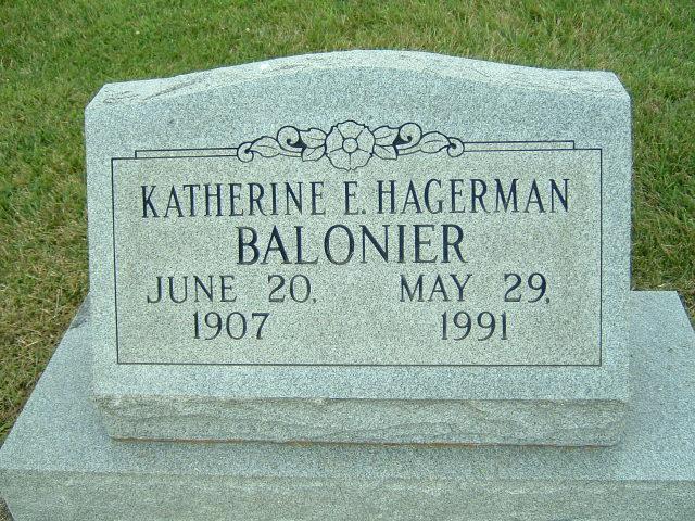 Katherine E. <i>Hagerman</i> Balonier
