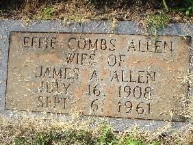 Effie <i>Combs</i> Allen