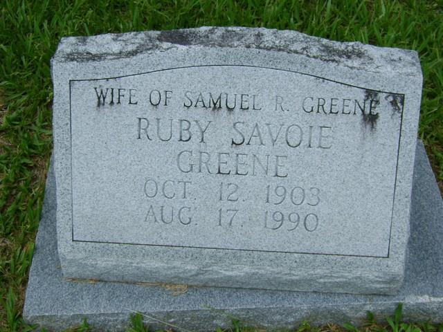 Ruby Savoie Greene