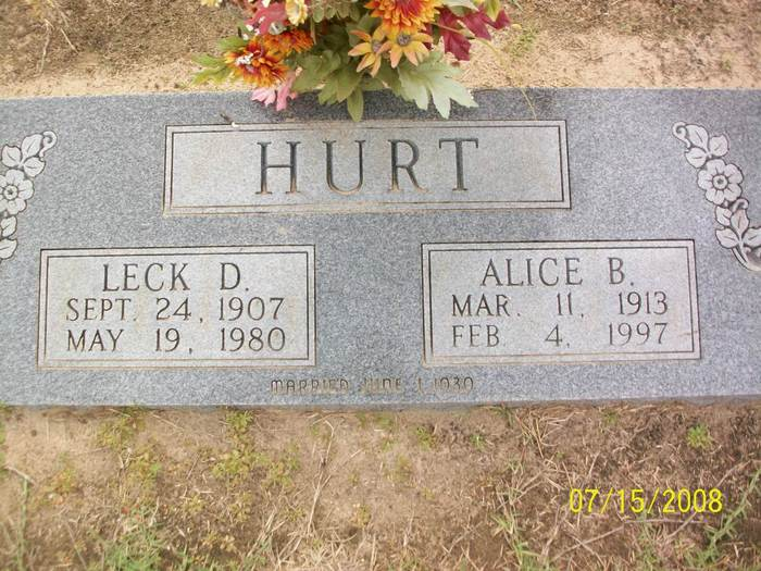 Alice B. <i>Amos</i> Hurt