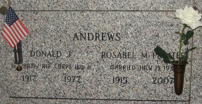 Donald J Andrews