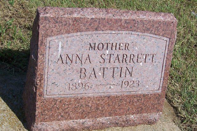Anna <i>Starrett</i> Battin