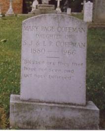 Mary Page Coffman