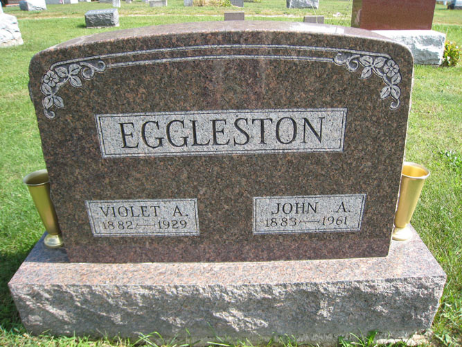 Violet Augusta Gussie <i>Hyde</i> Eggleston