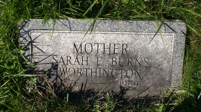Sarah E. <i>Burns</i> Worthington
