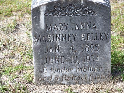 Mary Ann <i>McKinney</i> Kelley