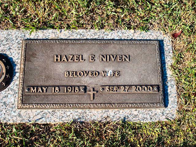 Hazel E. <i>Niven</i> Evans