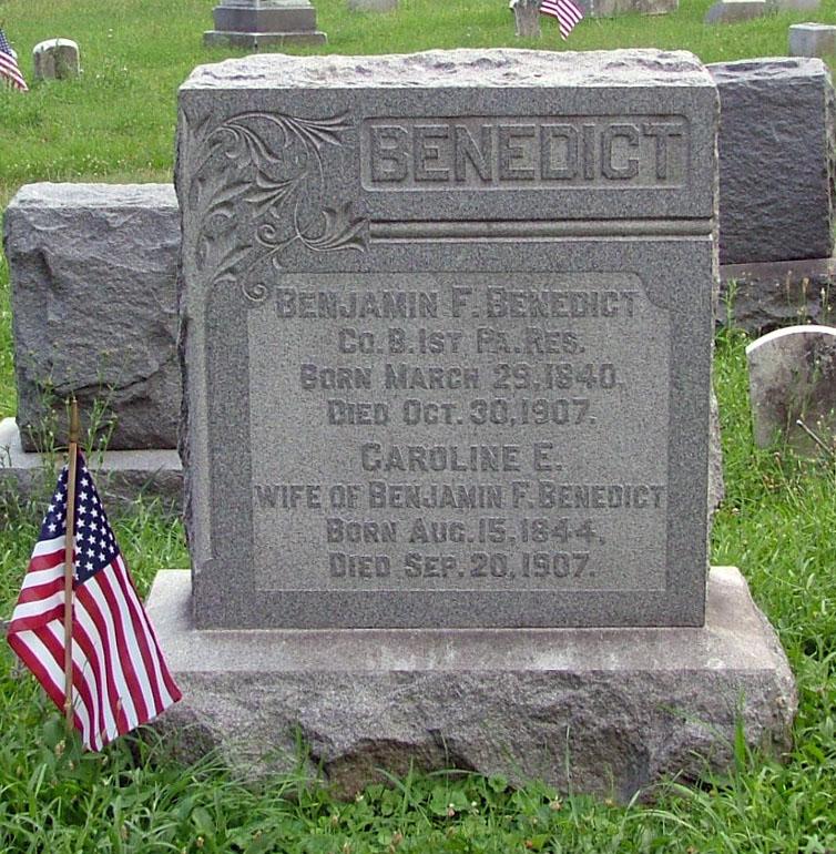 Pvt Benjamin Franklin Benedict