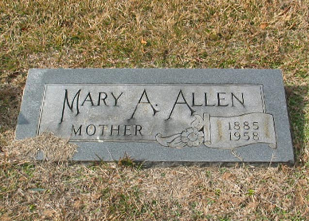 Mary Ann <i>Lawrence</i> Allen