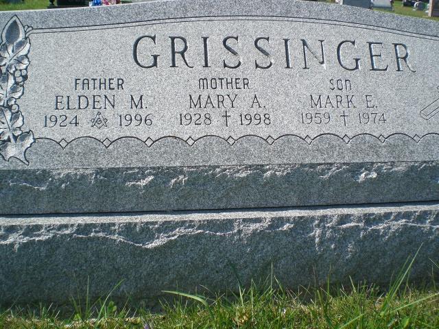 Mary Alice <i>Hess</i> Grissinger