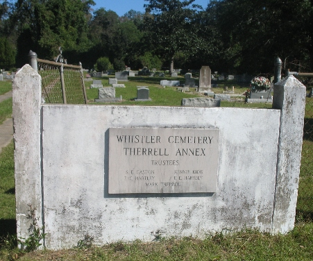 Whistler Cemetery - Therrell Annex
