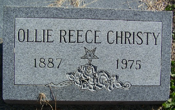 Ollie Effie <i>Reece</i> Christy