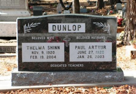 Thelma E. <i>Shinn</i> Dunlop