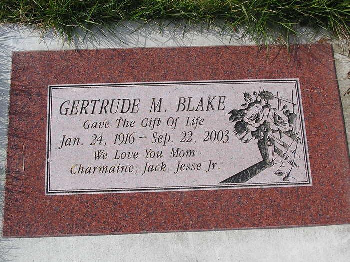 Gertrude M <i>Ludden</i> Blake