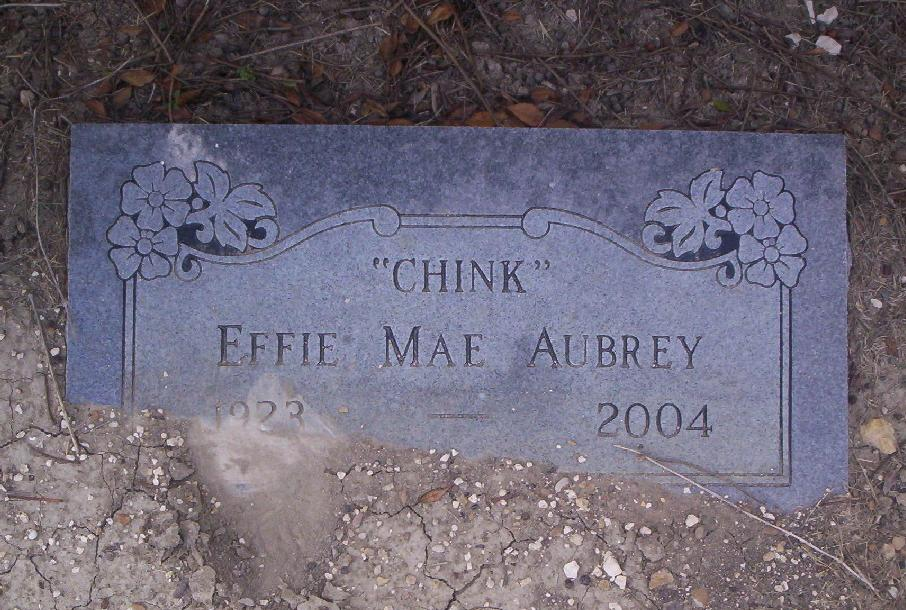 Effie Mae Chink <i>Chandler</i> Aubrey
