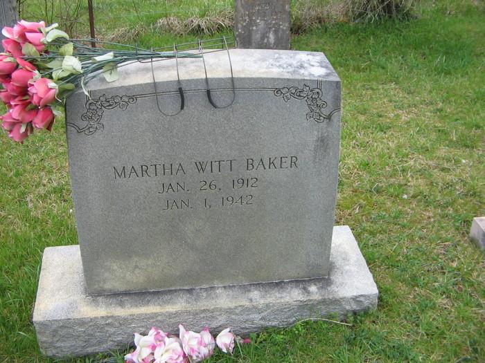 Martha <i>Witt</i> Baker
