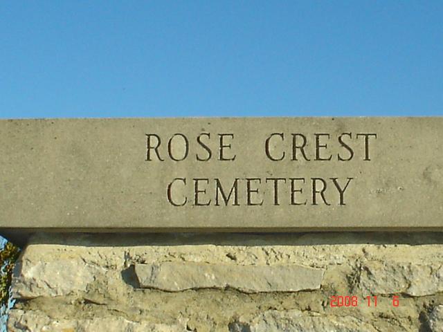 Rose Crest Cemetery