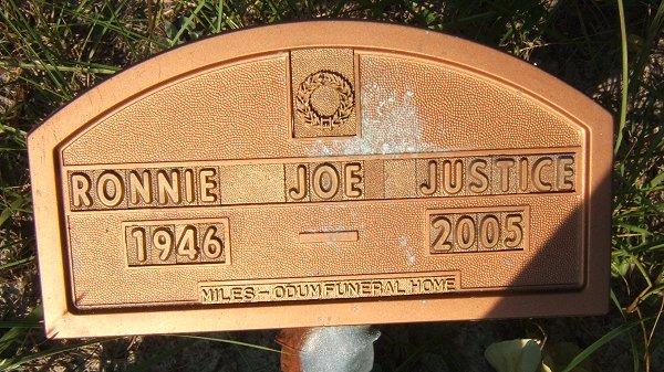 Ronnie Joe Justice 1946 2005 Find A Grave Memorial