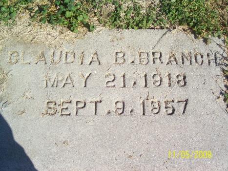 Claudia Beatrice <i>Steward</i> Branch