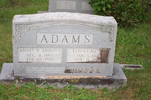 Annis Rebecca <i>Abbott</i> Adams