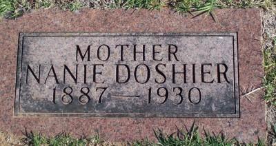 Nancy Emiline Nanie <i>Oer</i> Doshier