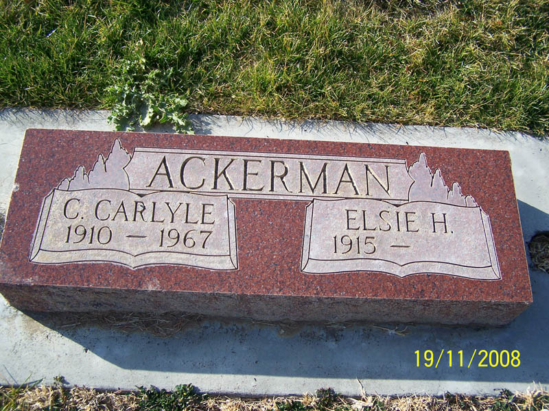 Clarence Carlyle Ackerman