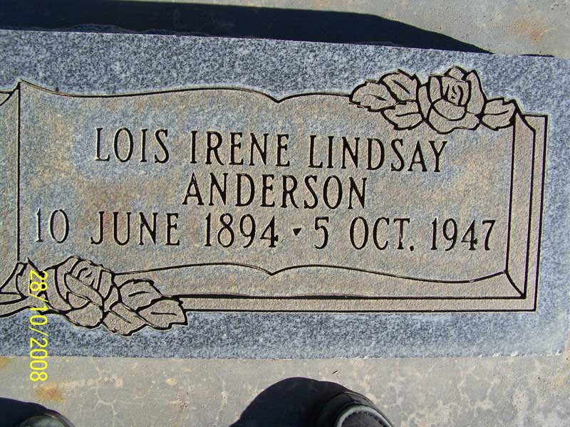Lois Irene <i>Lindsay</i> Anderson
