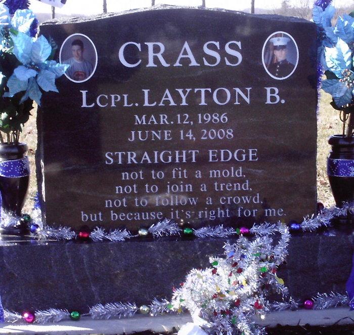 LCpl Layton B. Crass