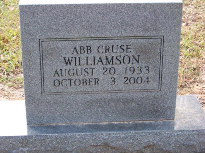 Abb Cruse Williamson