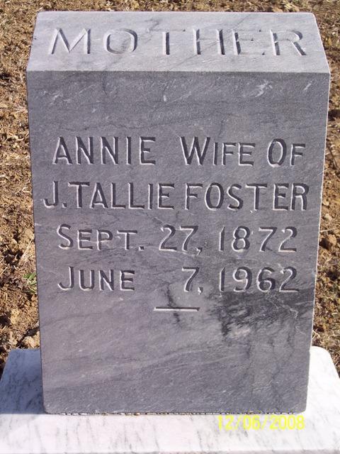 Annie <i>Valentine</i> Foster
