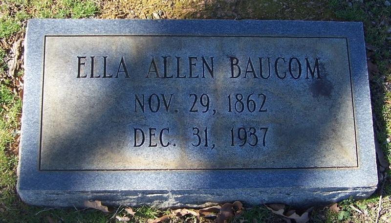 Ella <i>Allen</i> Baucom