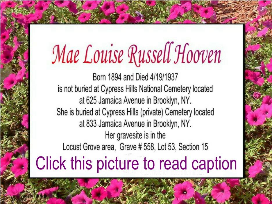 Mae Louise <i>Williams</i> Hooven