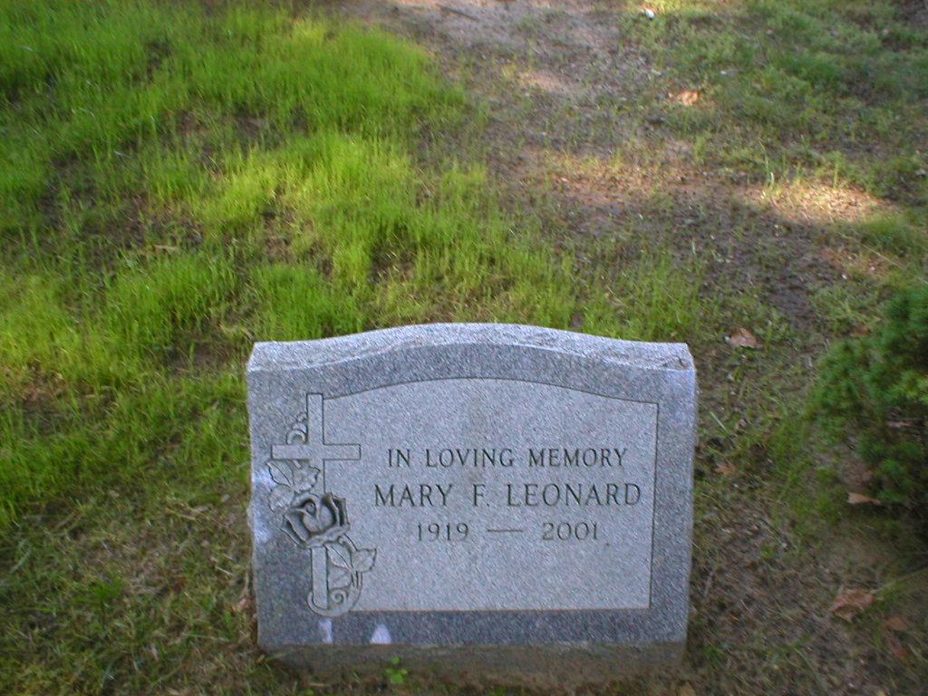 Mary F Leonard