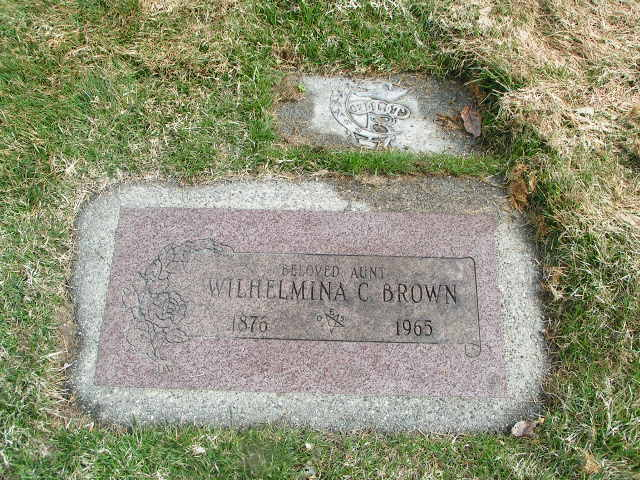 Wilhelmina Christina Minnie <i>Carlson</i> Brown