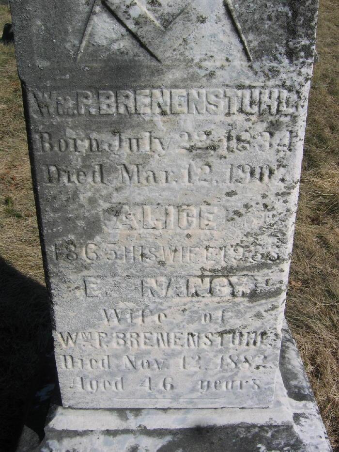 Alice M. <i>Scriven</i> Brenenstuhl