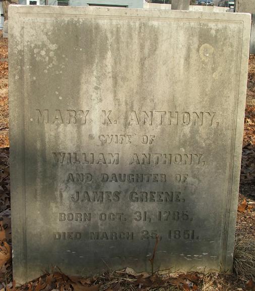 Mary Kinnicutt <i>Greene</i> Anthony